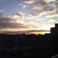 冬の嵐の翌朝