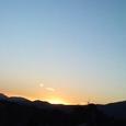 夕焼けに雲も焼けて