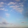 雲が消えて…