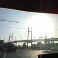 逆光のベイブリッジ