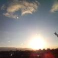 夕日を見ながら…