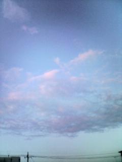 雲が焼けてきたね♪