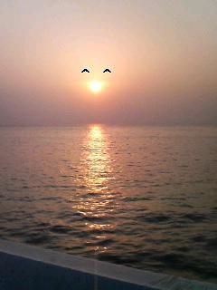 夕日の笑顔♪
