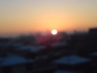 空気も凍りつく朝