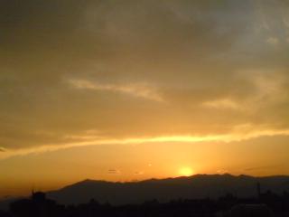 黄金の夕景