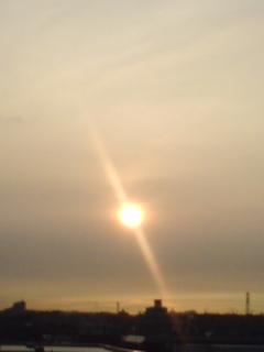 雲の中に太陽