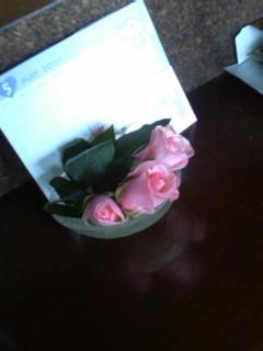 薔薇を飾って